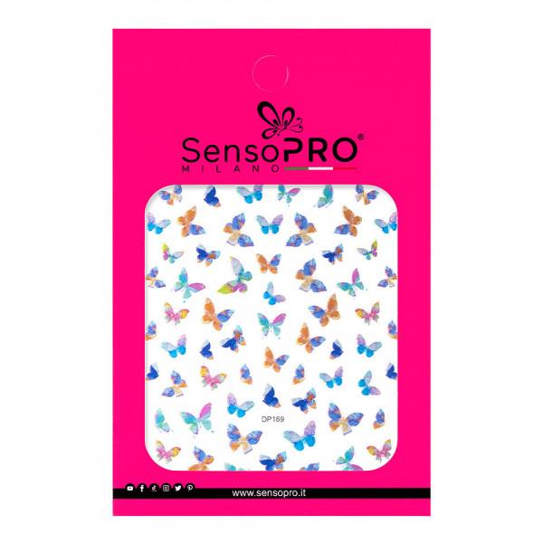Poze Abtibilduri unghii SensoPRO Milano Butterfly, model DP169