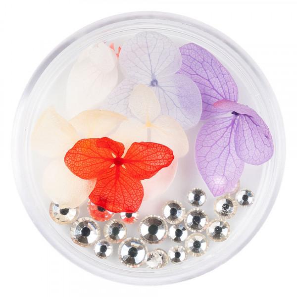 Poze Flori Uscate Unghii LUXORISE cu cristale - Floral Fairytale #10