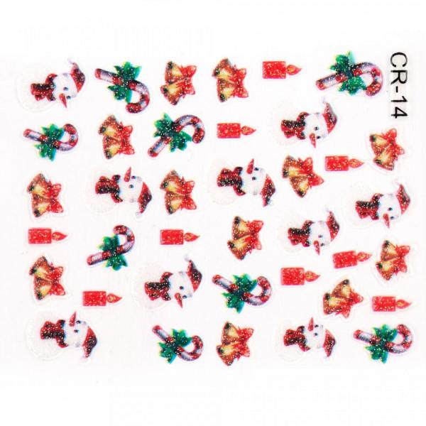 Poze Folie Sticker 3D unghii, model CR-14