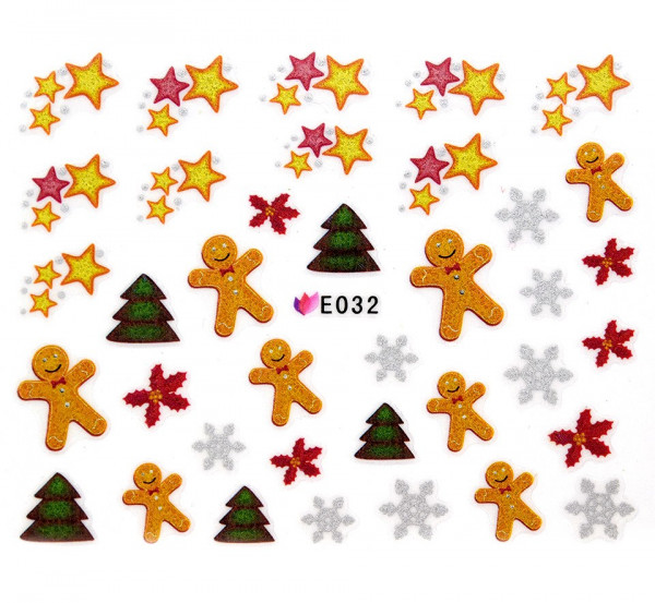 Poze Folie Sticker 3D unghii, model E032 - Sensational Gifts