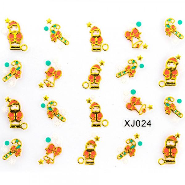 Poze Folie Stickere 3D unghii, model xj024