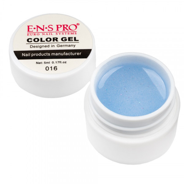 Poze Gel UV Color cu Sclipici ENS PRO #016 - Blue Shine