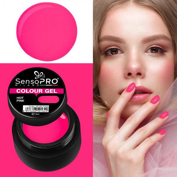 Poze Gel UV Colorat Hot Pink 5ml, SensoPRO Milano
