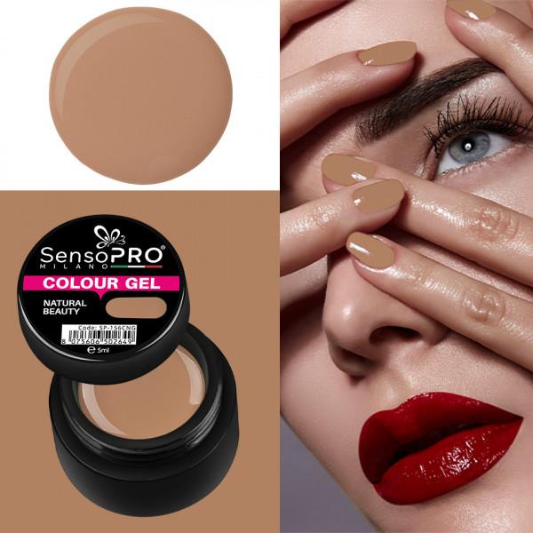 Poze Gel UV Colorat Natural Beauty 5ml, SensoPRO Milano