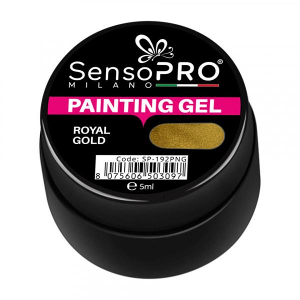 Poze Gel UV Pictura Unghii Royal Gold 5ml, SensoPRO Milano