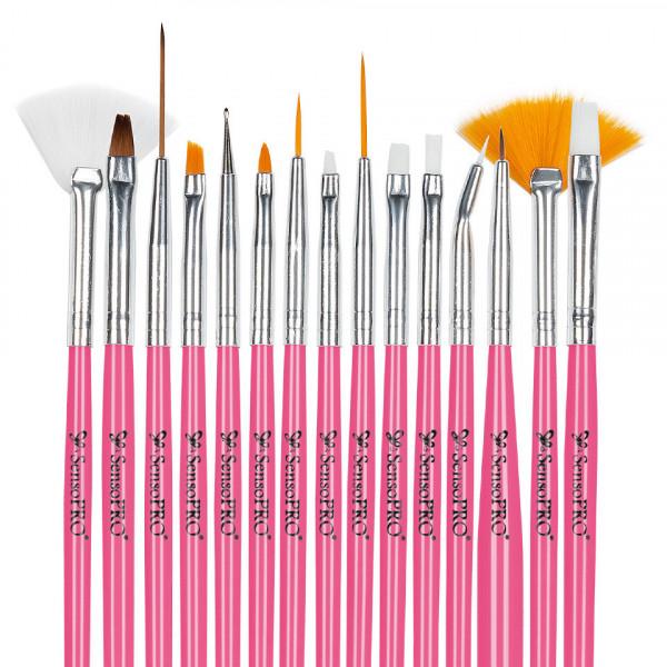 Poze Kit Unghii False cu Gel UV SensoPRO - Promotie #56 + CADOU Set 15 Pensule Manichiura
