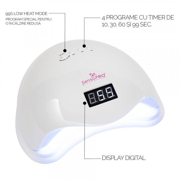 Poze Lampa UV LED 48W SUN5 PRO SensoPRO Milano, White