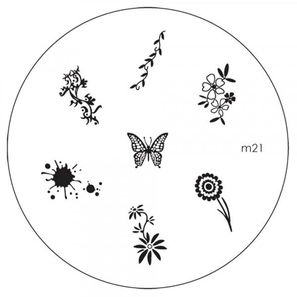 Poze Matrita Metalica Stampila Unghii M21 - Nature