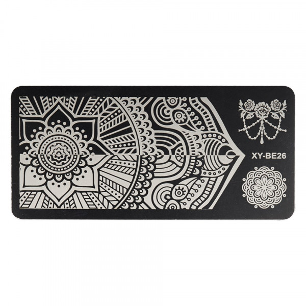 Poze Matrita Metalica Stampila Unghii XY-BE26 - Mandala