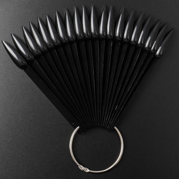 Poze Paletar Unghii Stiletto 40 pozitii pentru exersare si expunere, Negru