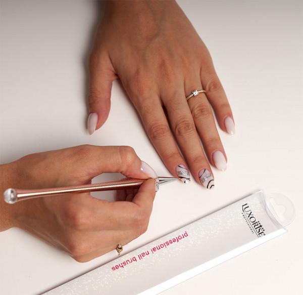 Poze Pensula nail art LUXORISE Mastery Crystal