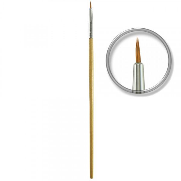 Poze Pensula nail art profesionala nr. 2, linii fine, french - Wood Stick
