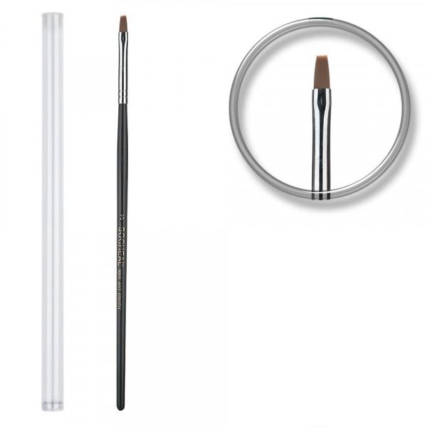 Poze Pensula unghii aplicare gel UV nr.3 cu etui tubular - Black Sand