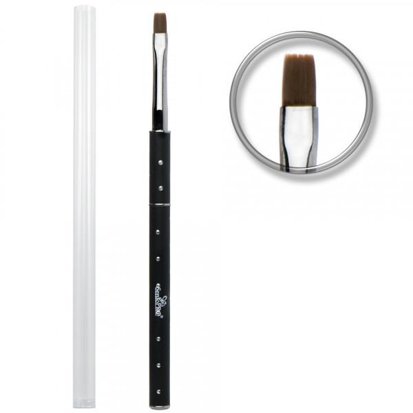 Poze Pensula unghii aplicare gel UV nr.6 cu etui tubular - SensoPRO