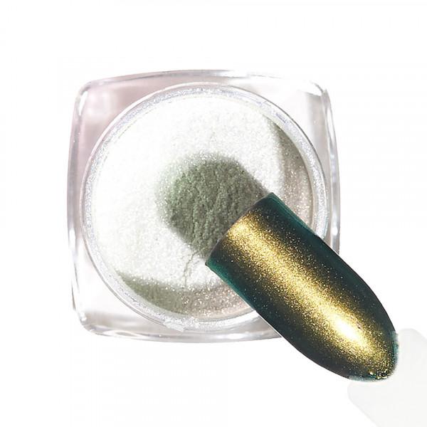 Poze Pigment unghii Chrome #130 cu aplicator - LUXORISE