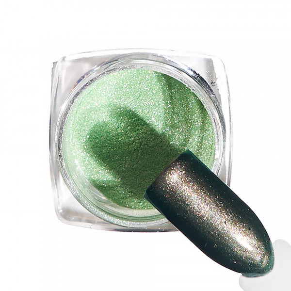 Poze Pigment unghii Chrome #57 cu aplicator - LUXORISE