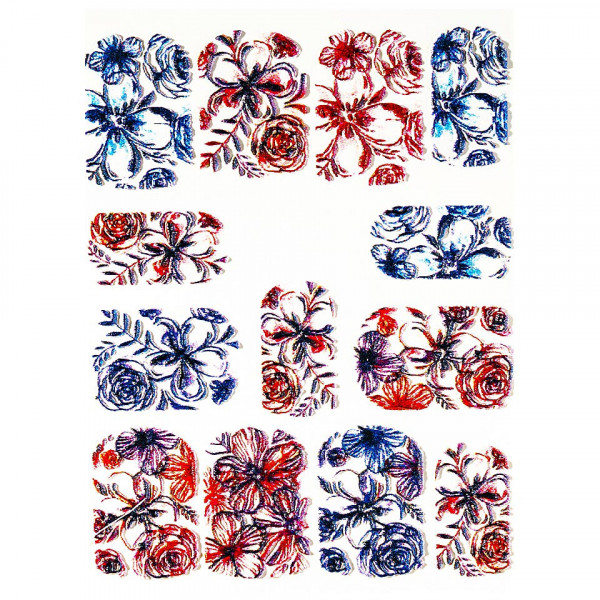 Poze Tatuaj 3D Unghii LUXORISE 1009-34