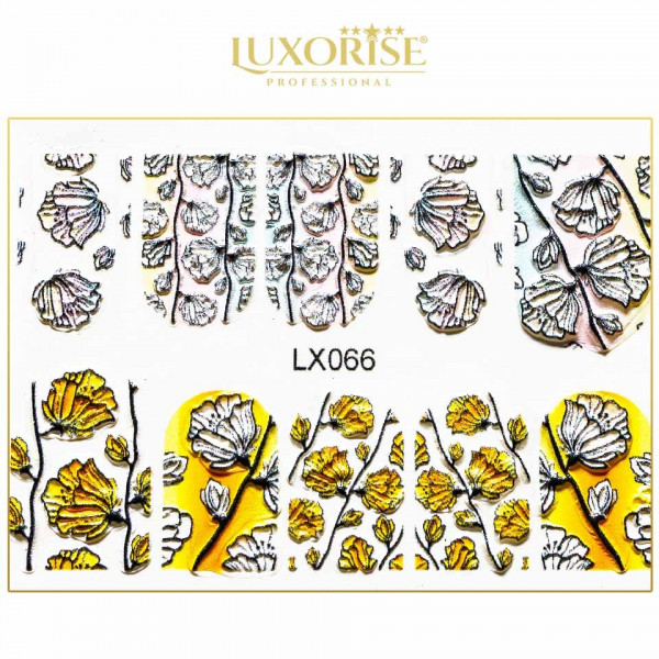 Poze Tatuaj 3D Unghii LUXORISE Artistry LX066