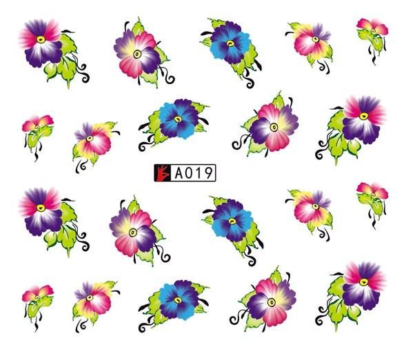 Poze Tatuaj unghii A019 flori