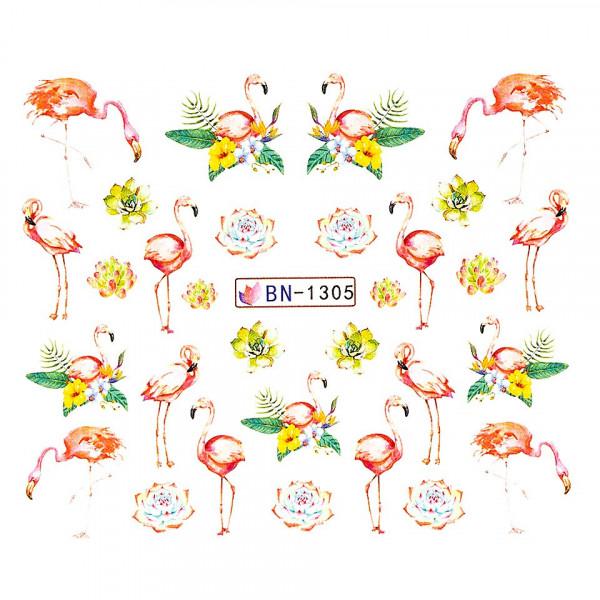 Poze Tatuaj unghii LUXORISE, Flamingo BN-1305