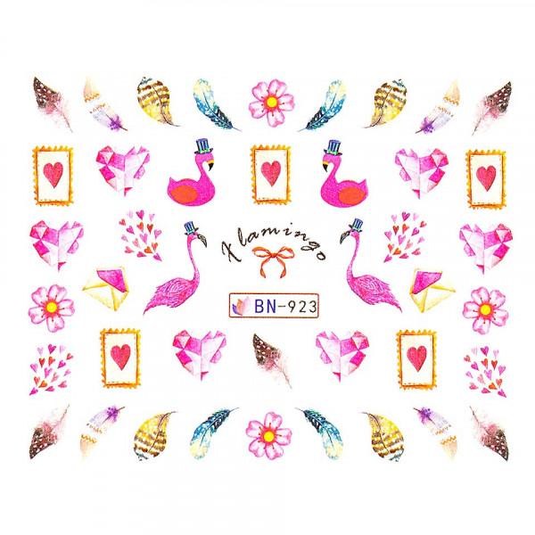 Poze Tatuaj unghii LUXORISE, Flamingo BN-923