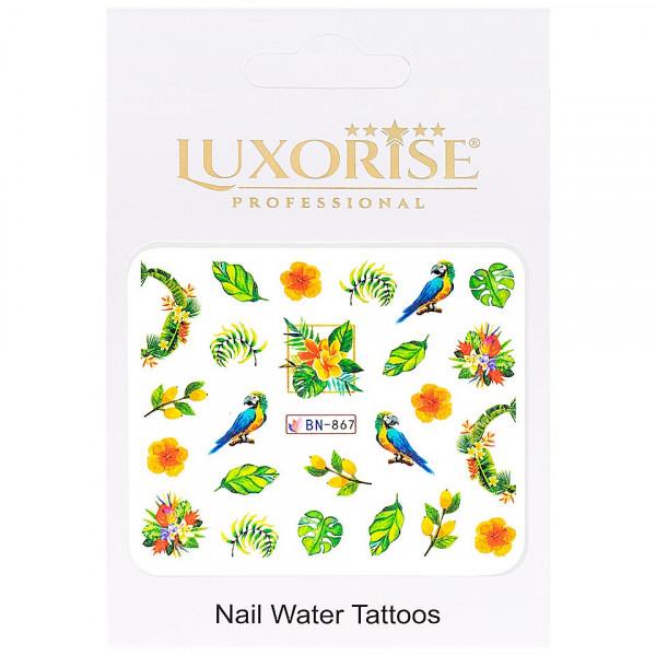 Poze Tatuaj unghii LUXORISE, Tropical BN-867