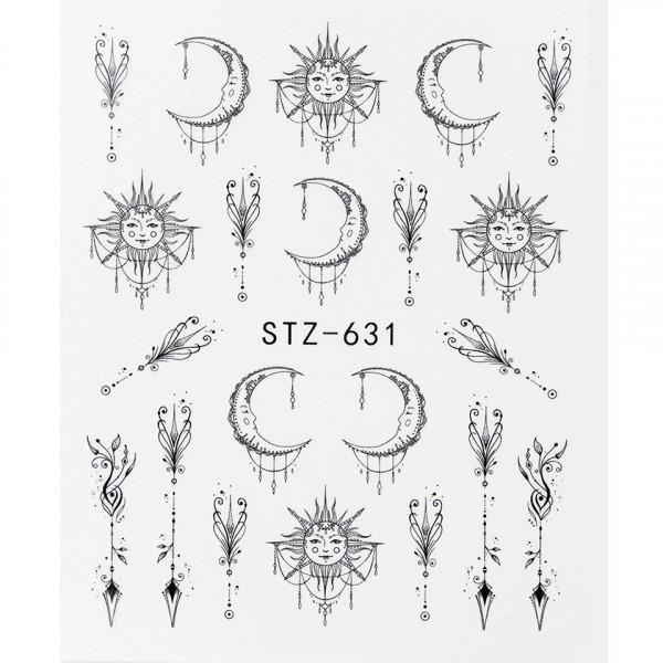 Poze Tatuaj unghii STZ-631 abstract