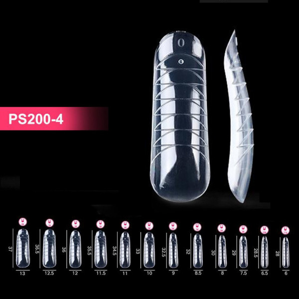 Poze Tipsuri Polygel Gradate, Refolosibile - Popits Dual Forms PS200-4, 120 buc.