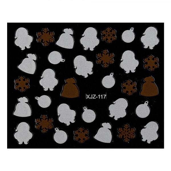 Poze Abtibild unghii XJZ-117 Seara de Sarbatori – Ciocolata de Craciun