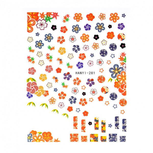 Poze Abtibilduri unghii SensoPRO Art in Bloom, model HANYI 281