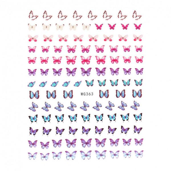 Poze Abtibilduri unghii SensoPRO Magic Butterfly, model WG363