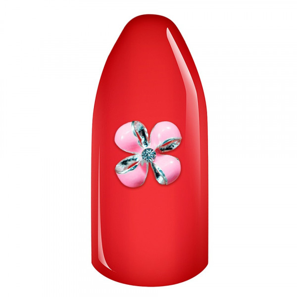 Poze Decoratiune Unghii 3D - Floare Roz 02
