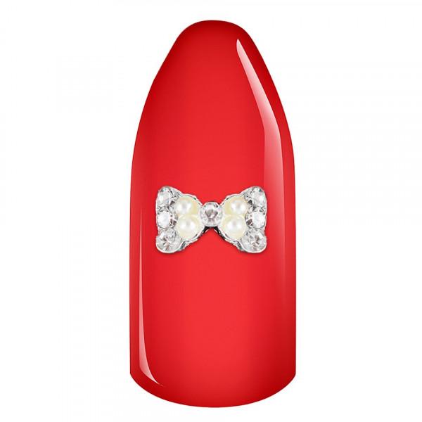 Poze Decoratiune Unghii 3D - Shiny Pearls Bow