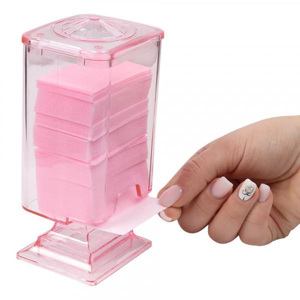 Poze Dispenser servetele unghii din plexiglas cu capac, roz