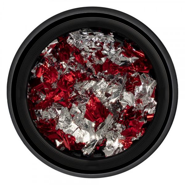 Poze Foita Unghii LUXORISE - Unique Red & Silver #08