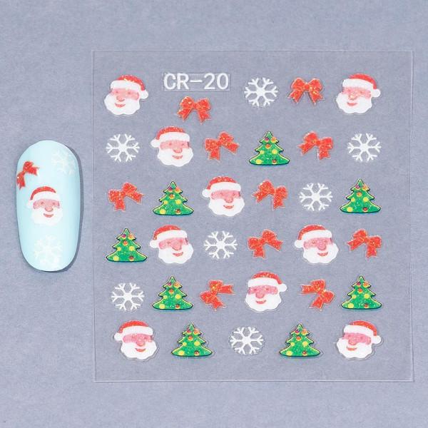 Poze Folie Sticker 3D unghii, model CR-20