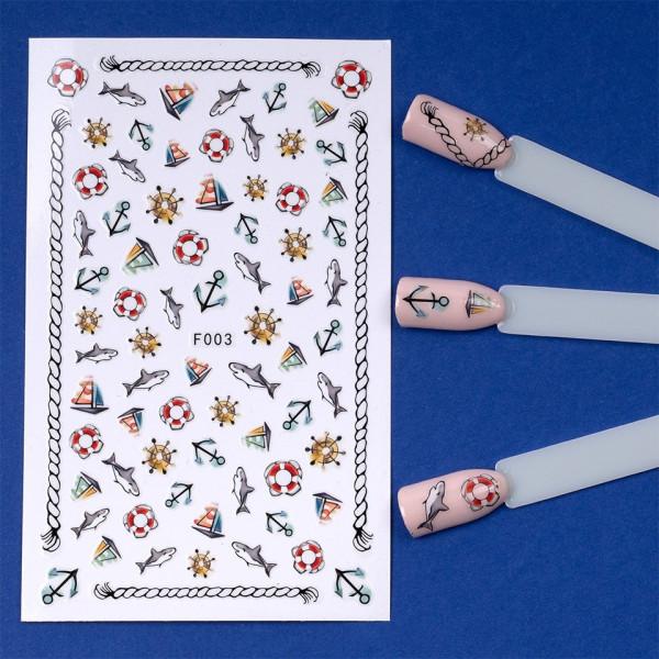 Poze Folie Stickere unghii, model F003