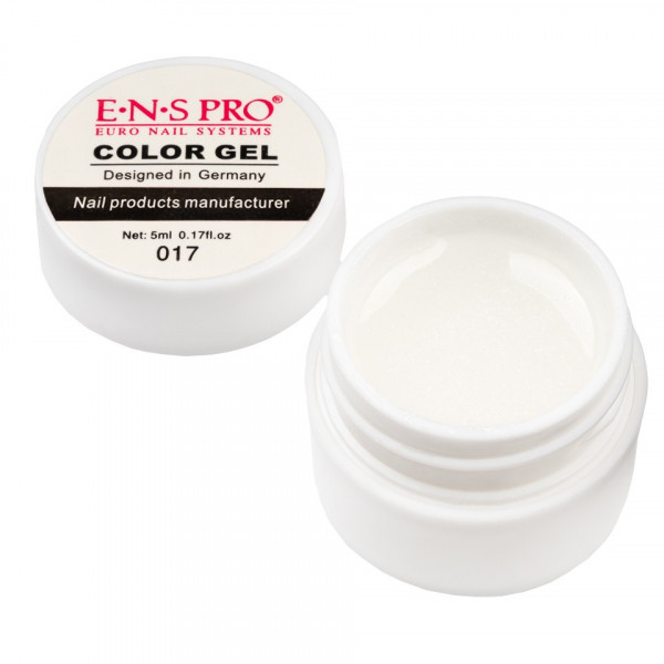 Poze Gel UV Color cu Sclipici ENS PRO #017 - White Star