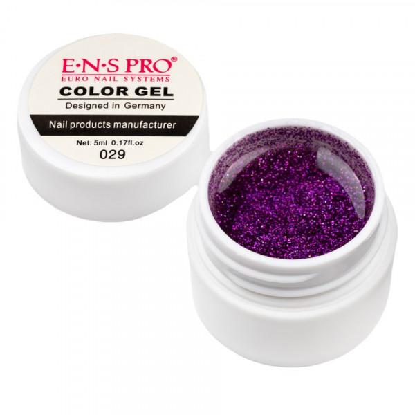Poze Gel UV Color cu Sclipici ENS PRO #029 - Orchid