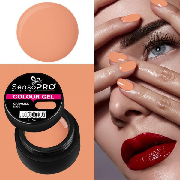 Poze Gel UV Colorat Caramel Kiss 5ml, SensoPRO Milano