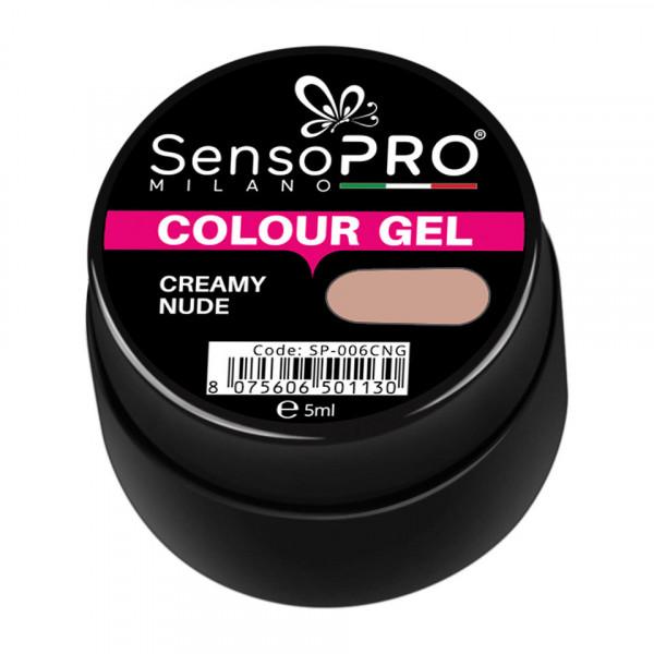 Poze Gel UV Colorat Creamy Nude 5ml, SensoPRO Milano