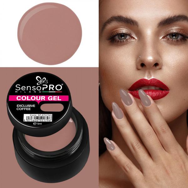 Poze Gel UV Colorat Exclusive Coffee 5ml, SensoPRO Milano
