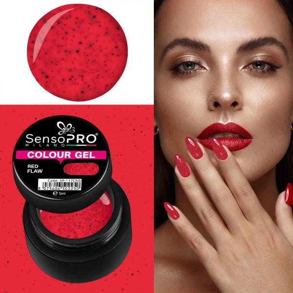 Poze Gel UV Colorat Red Flaw 5ml, SensoPRO Milano