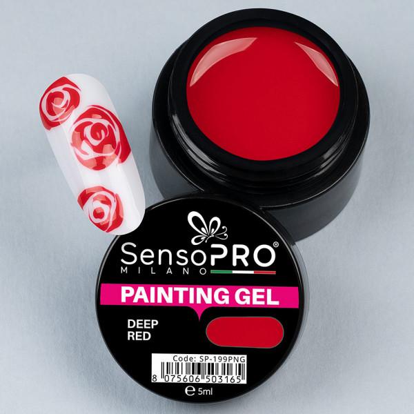 Poze Gel UV Pictura Unghii Deep Red 5ml, SensoPRO Milano