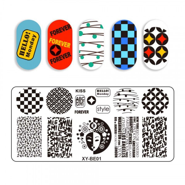Poze Kit Nail Art cu Stampila, Oja SensoPRO, Matrita - Pretty Glam Nails
