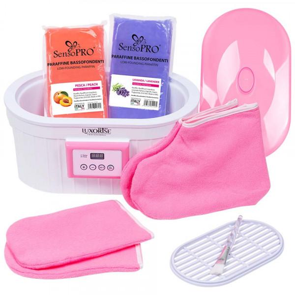 Poze Kit Parafina pentru maini si picioare Soft Skin cu incalzitor LUXORISE + CADOU