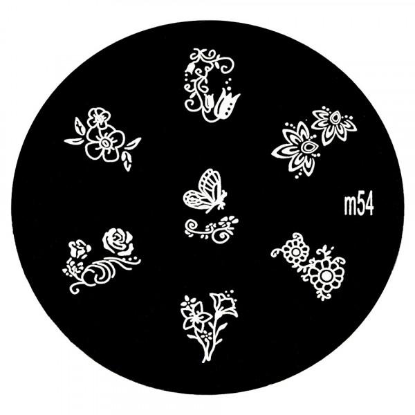 Poze Matrita Metalica Stampila Unghii M54 - Nature