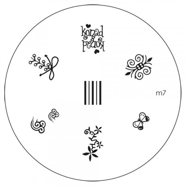 Poze Matrita Metalica Stampila Unghii M7 - Nature
