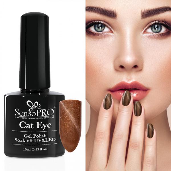 Poze Oja Semipermanenta Cat Eye SensoPRO 10ml - #023 DesertSands