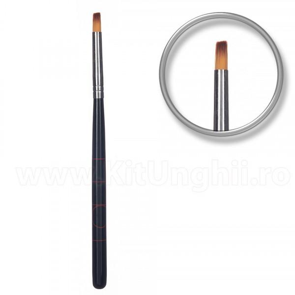Poze Pensula unghii aplicare gel UV Ebony Sweeps